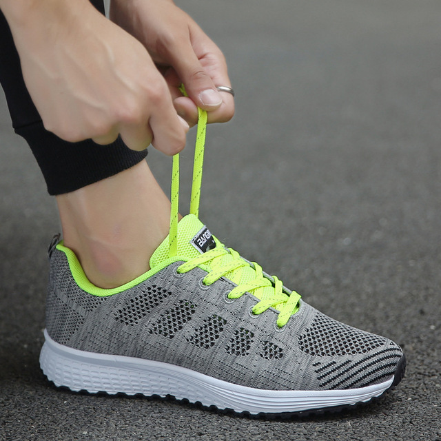 Women Casual Shoes Fashion Breathable Walking Mesh Flat Shoes Woman White Sneakers Women 2020 Tenis Feminino Female Shoes 5
