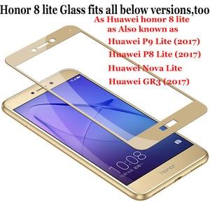Image 5 - Honor 8 Lite Glass Huawei P8 lite 2017 Tempered Glass Huawei Honor 8x 8 lite Screen Protector Full Cover Film P Smart Plus 10 X
