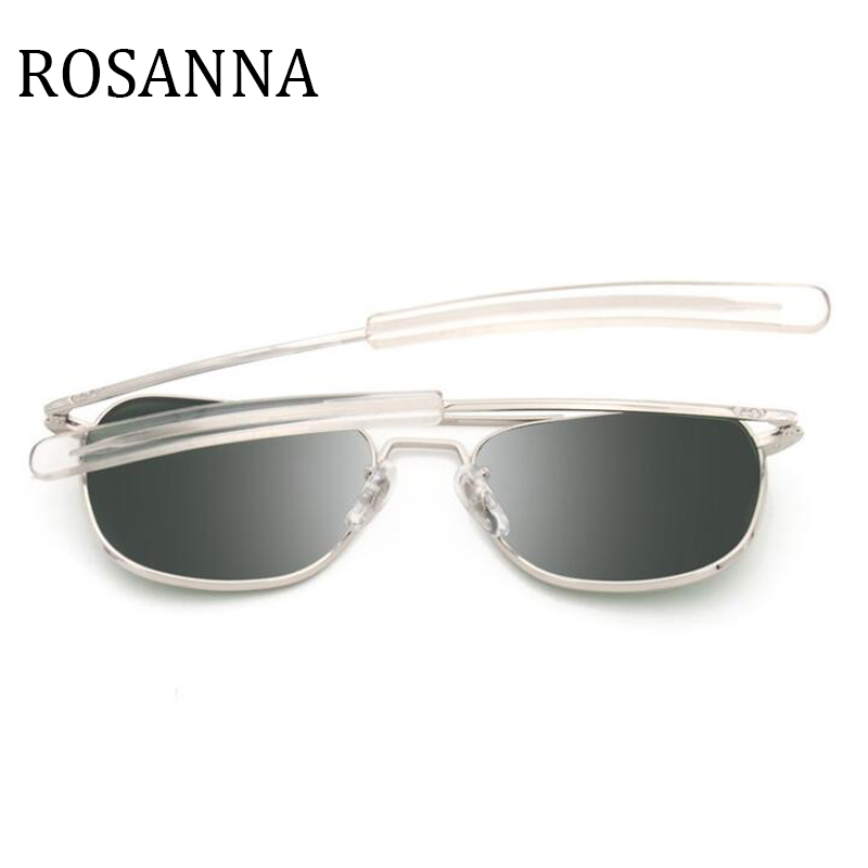 51be42d48df ROSANNA New Army MILITARY AO Sunglasses American Optical Glass Lens Alloy  Frame vintage Pilot style Sunglasses Men Oculos De Sol-in Sunglasses from  Apparel ...