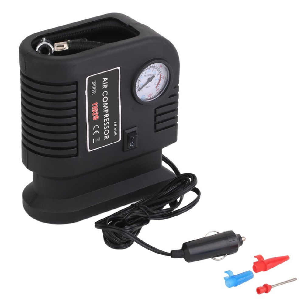 Portable Auto Vehicle Air Compressor Pump Tire 12V With 3 Adapters Electric Pump Tyre Inflator For Car Tire Inflatable Toys
