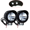2PCS 12V 3W Motorcycle Headlight Motorbike fixtures Moto Spotlight White Headlamp Night Driving Light 2017