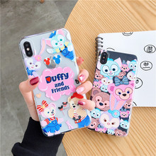 Cute Cartoon Duffy ShellieMay Anime Gelatoni StellaLou cover for iphone 6 6s 7 8 plus x xs max xr Disneys phone case fundas