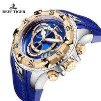 2019 Риф Тигр/RT лучший бренд класса люкс для мужчин спортивные часы водостойкие синий Хронограф Военная Униформа часы Relogio Masculino RGA303 2