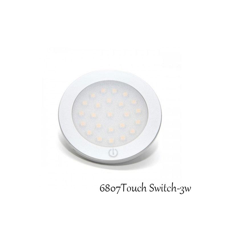 PräZise 2 W 3 W Runde Led-strahler 12 V Schrank Lampen In Möbel Schaufenster Cool White Led Beleuchtung Mit Touch Schalter 2 Teile/los Ce Rohs Einfach Zu Verwenden Led-strahler Led-beleuchtung