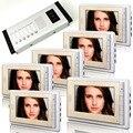 1V6 7-дюймовый ЖК-дисплей Проводной Видео дверной телефон