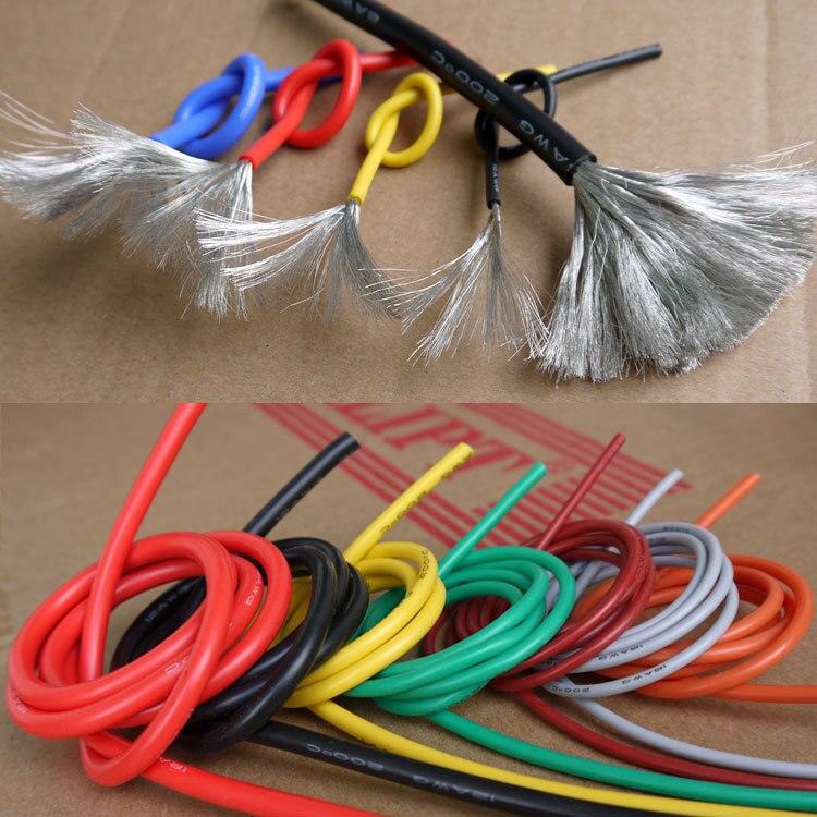 28AWG гибкий силиконовый провод кабель мягкая высокая температура луженых медных UL VW-1