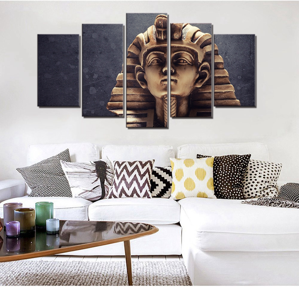 5 Panel Canvas Wall Art The Great Sphinx of Ancient Egypt Modular ...