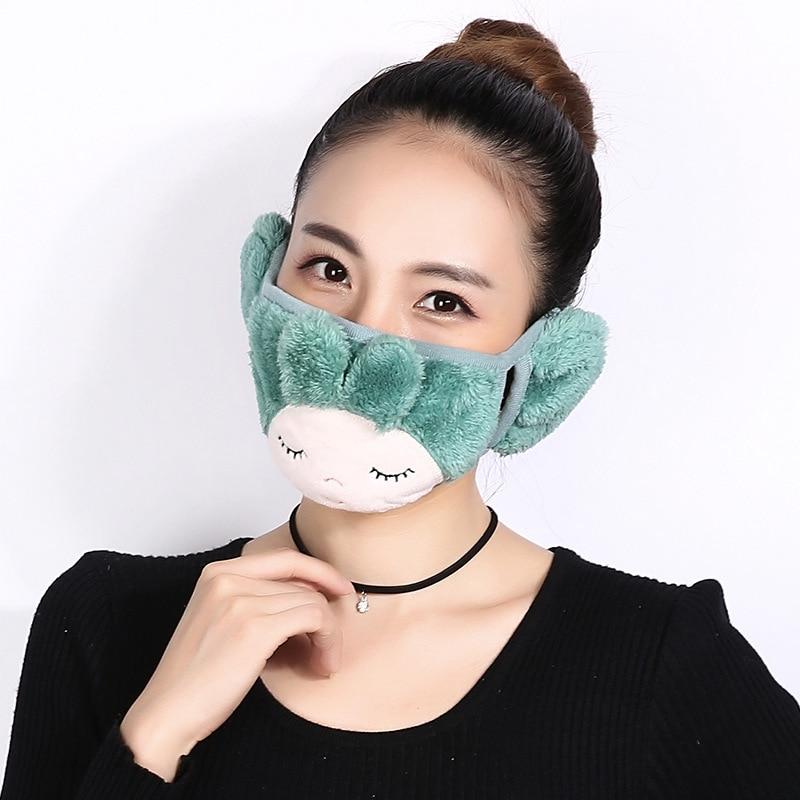 5pcs/Pack ZH Fashion Face Dust Mask Cute Masken Children Exo Maskeler Fashion Boca Mask Kpop Anti Dust Ski Masks Ciclis