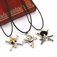 New Anime One Piece Luffy Skull Pendant Necklace