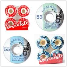 Ruedas de patineta con gráficos de Chocolate marca USA 51/52/53/54/55mm PU ruedas de Skate Street Road cuatro ruedas Skateboard