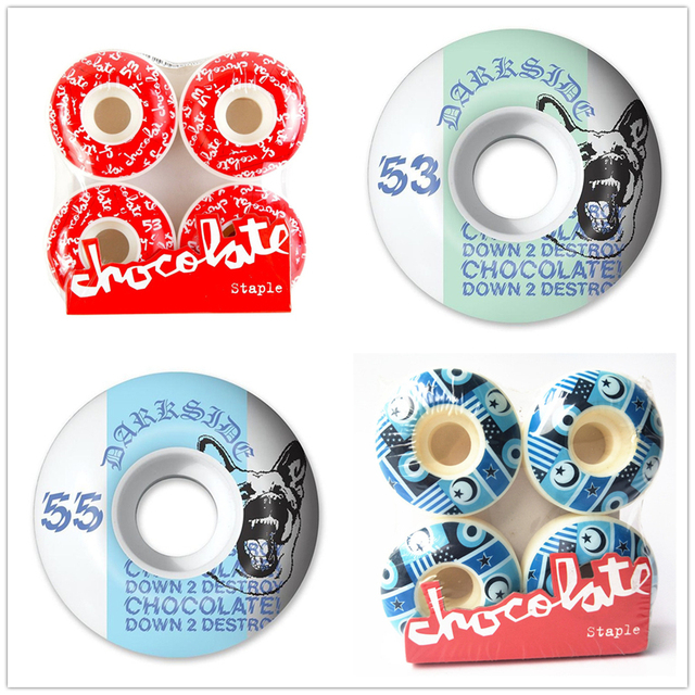 USA BRAND Chocolate Graphics Skateboard Wheels 51/52/53/54/55mm PU Skate Wheels Street Road Four Wheels Skateboarding