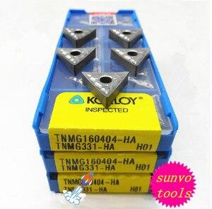 Image 1 - Inserts de tournage en carbure daluminium cémenté KORLOY, 10 pièces, TNMG160404 TNMG160408 TNMG160402 tnmg160412 ak H01