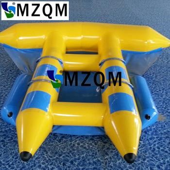 MZQM  4 persons use banana boat fly fish,inflatable flying fish, inflatable flying banana boat 0 9mm pvc tarpaulin 6 seat version inflatable floating flying fish towable tube inflatable water game flyfish banana boat