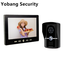 Yobang Security freeship 10″ Inch Door Phone Doorbell Video Intercom Kit 1-camera 1-monitor Night Vision Wire Video Door Phone