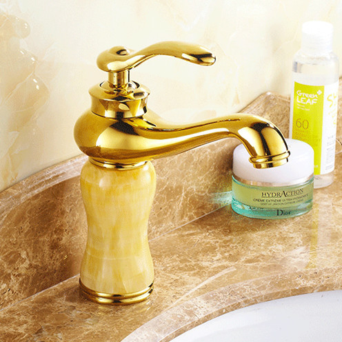 Dona4012 Bluestone Gold Bathroom Mixer Tap With Solid Br Hot Cold Golden Basin Sink Water Faucets
