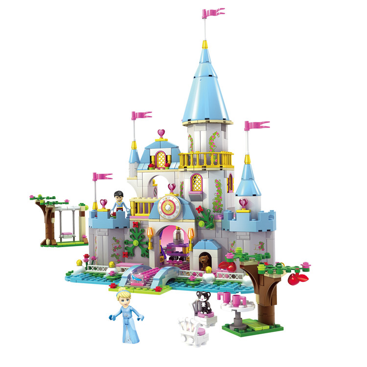 Pogo Lepin SY325 Cinderella Romantic Castle Princess Girls Friends Building Blocks Bricks Toys Compatible Legoe lepin 16008 4160pcs cinderella princess castle city model building block kid educational toys for gift compatible legoed 71040