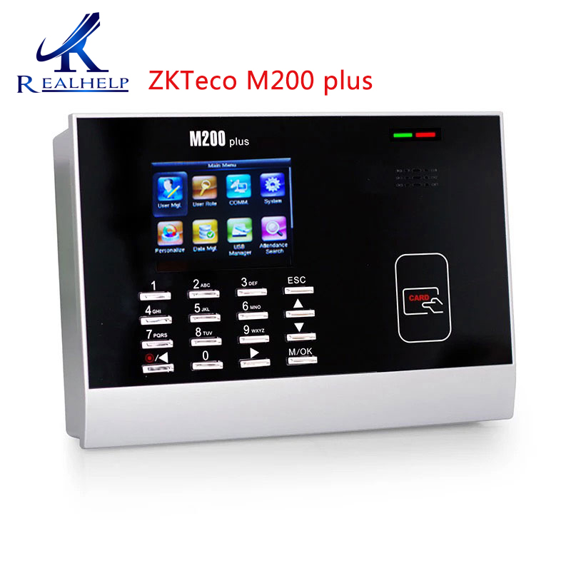 Time Attendance System Rfid Reader Card Reader Device M200Plus Biometric Clock With ZKTime 5.0