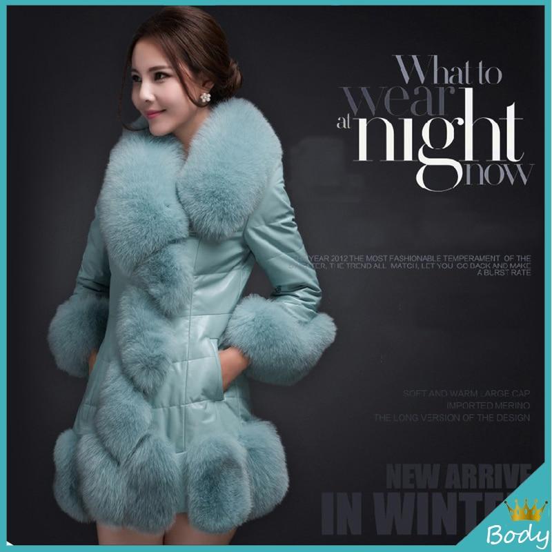 New Plus Size Faux Fox Fur Long Outwear Coat Fashion font b Women b font Winter