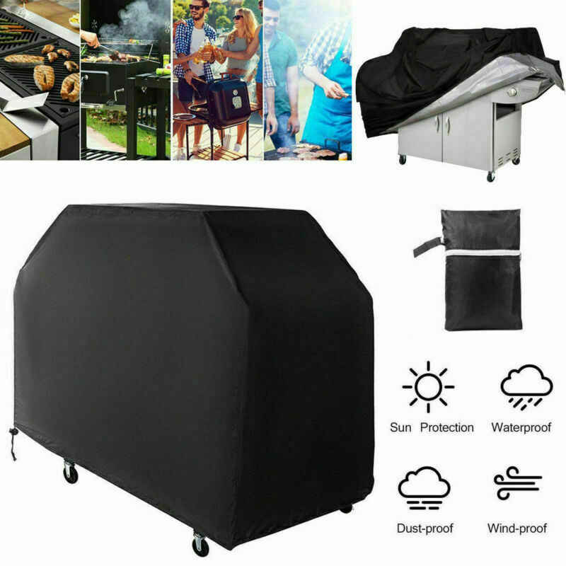 Outdoor Waterproof BBQ Cover Heavy Duty Grill Accessories Weber Barbecue Grill Cover Gas Charcoal Protector Anti Dust Rain Bag
