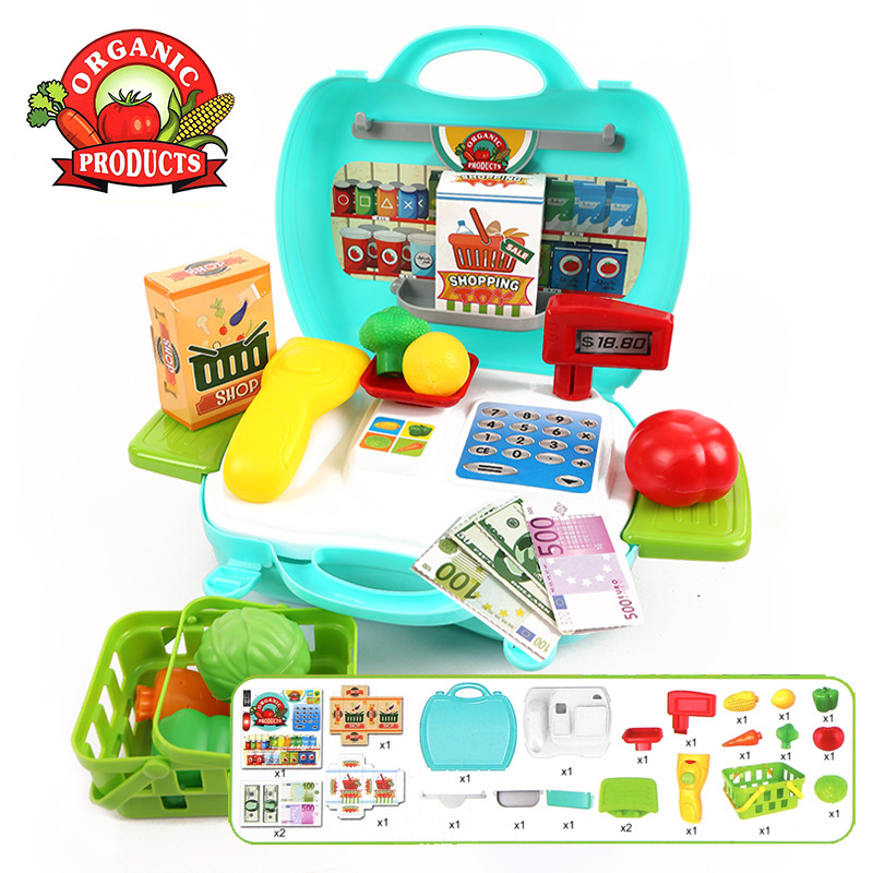 New Baby Educational Toy Pretend Play Register & Scanner Supermarket cash