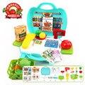 Nuevos juguetes educativos del bebé pretend play registro y escáner supermercado caja registradora niños encantadores bebés mini tienda tienda toys