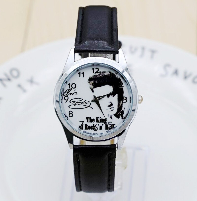2017 Elvis Presley Watches Women Fashion Quartz Watch Female Elegant Dress Watch Relogio Feminino Clock Montre Femme rigardu fashion female wrist watch lovers gift leather band alloy case wristwatch women lady quartz watch relogio feminino 25