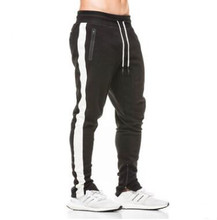 2018 New Men Autumn and Winter New Sports Fitness Running Trousers Warm Solid Color Plus Size Cotton Sportswear Pencil Pants 2018 new high grade plus fat to increase size running set spring and autumn sportswear large size men s suits outdoor fitness sp