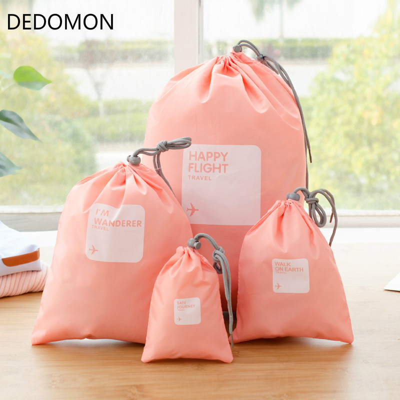 2017 4pcs/lot Set Travel Accessories Men and Women Clothes Classified Organizers Packing Bags Shoes Bags Luggage Bag Wholesale