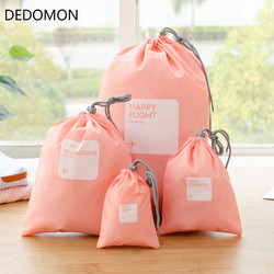 2019 4pcs/lot Set Travel Accessories Men and Women Clothes Classified Organizers Packing Bags Shoes Bags Luggage Bag Wholesale