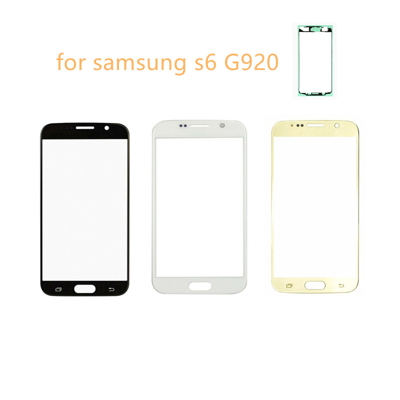 Gold/Black/White/Dark Blue/Blue Touch Screen For Samsung Galaxy S6 G920 Front Glass Touch Panel Screen Digitizer Display UV Tape