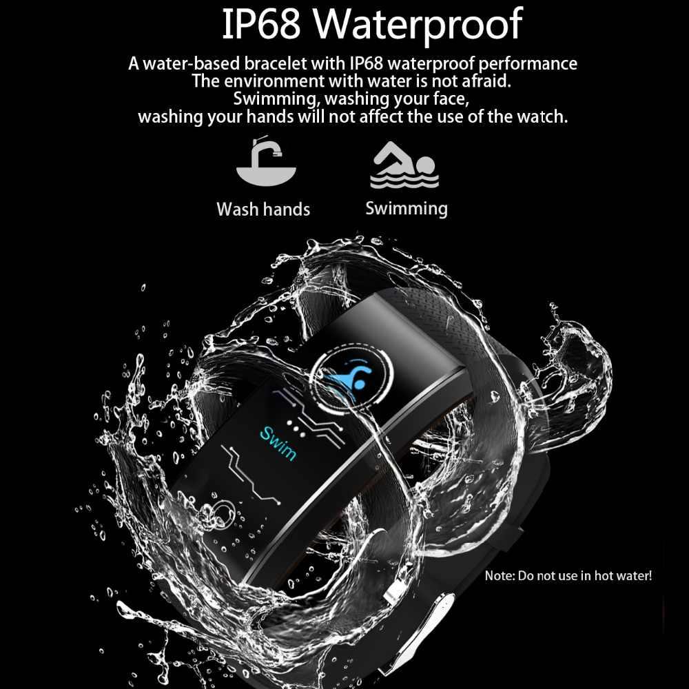 Ini Baru Smart Gelang Tekanan Darah Heart Rate Monitor Smart Jam Tangan Pria Basket Kebugaran Tracker Smart Gelang + Tali + kotak