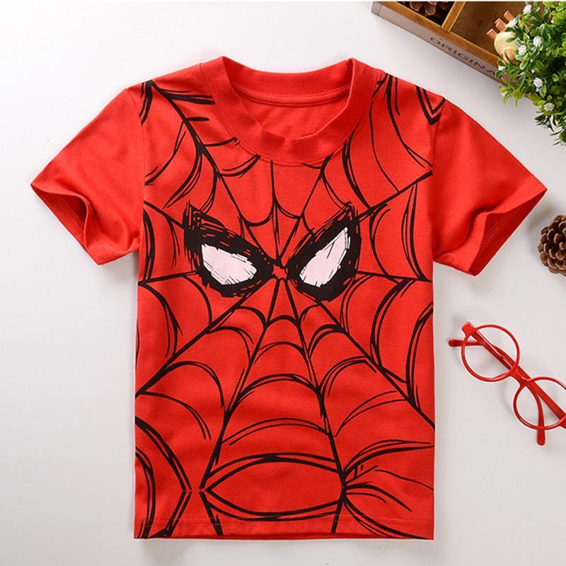 Summer Style Cotton Spiderman Boys Kids Clothing Batman Tee Boys Outwear Child's Clothes Cool Fashion