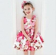 European Brand Sleeveless Evening Dress For Flower Girl Kids Fashion Vestidos Bebes Dress 2016
