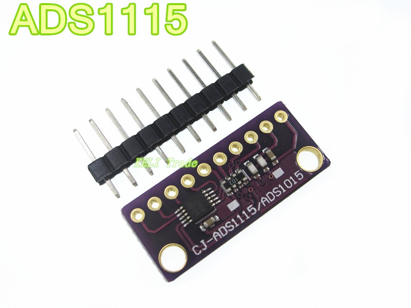 5PCS/LOT I2C <font><b>ADS1115</b></font> <font><b>16</b></font> <font><b>Bit</b></font> <font><b>ADC</b></font> 4 channel <font><b>Module</b></font> with Programmable Gain Amplifier 2.0V to 5.5V RPi image