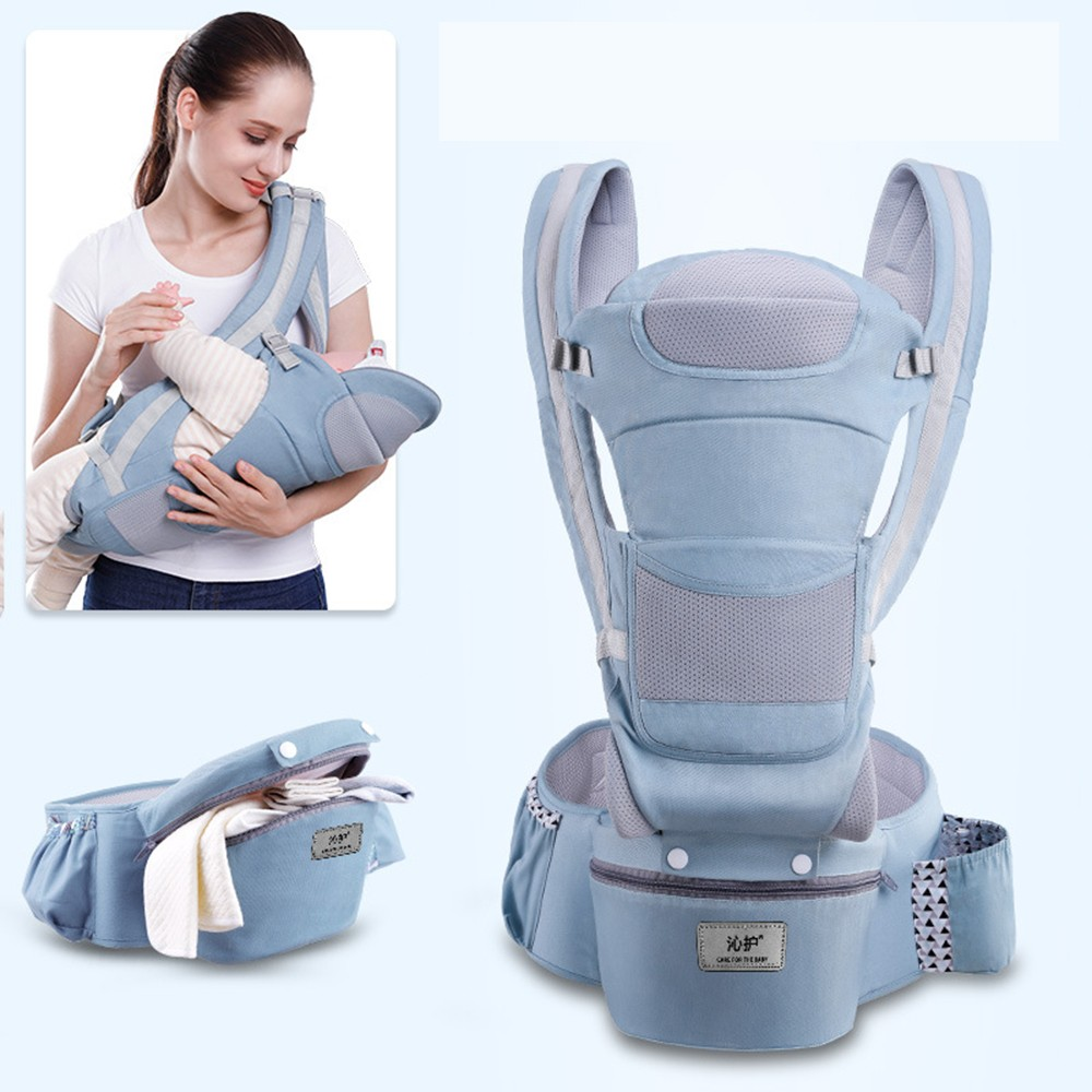 0-48M Ergonomic Baby Carrier Infant Baby Hipseat Carrier Front Facing Baby Wrap Sling For Travel 18