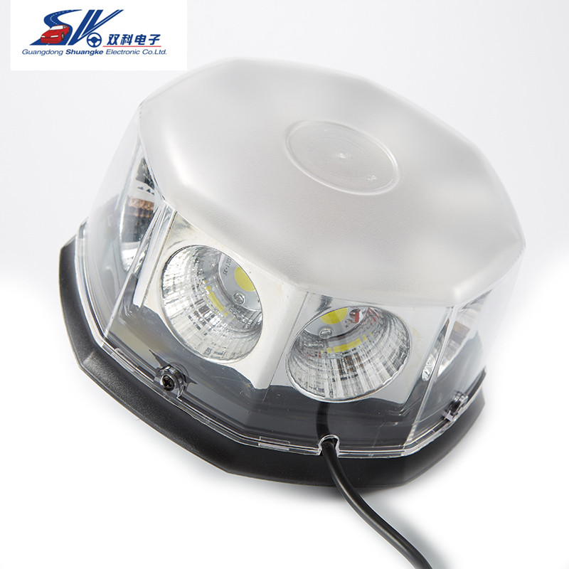 12v 24v the brightest 60W COB led rotating beacon light waterproof