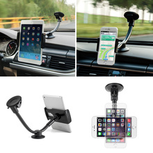 Universal 360 2in1 Car Windshield Mount Holder Stand For Mobile Tablet GPS 7″