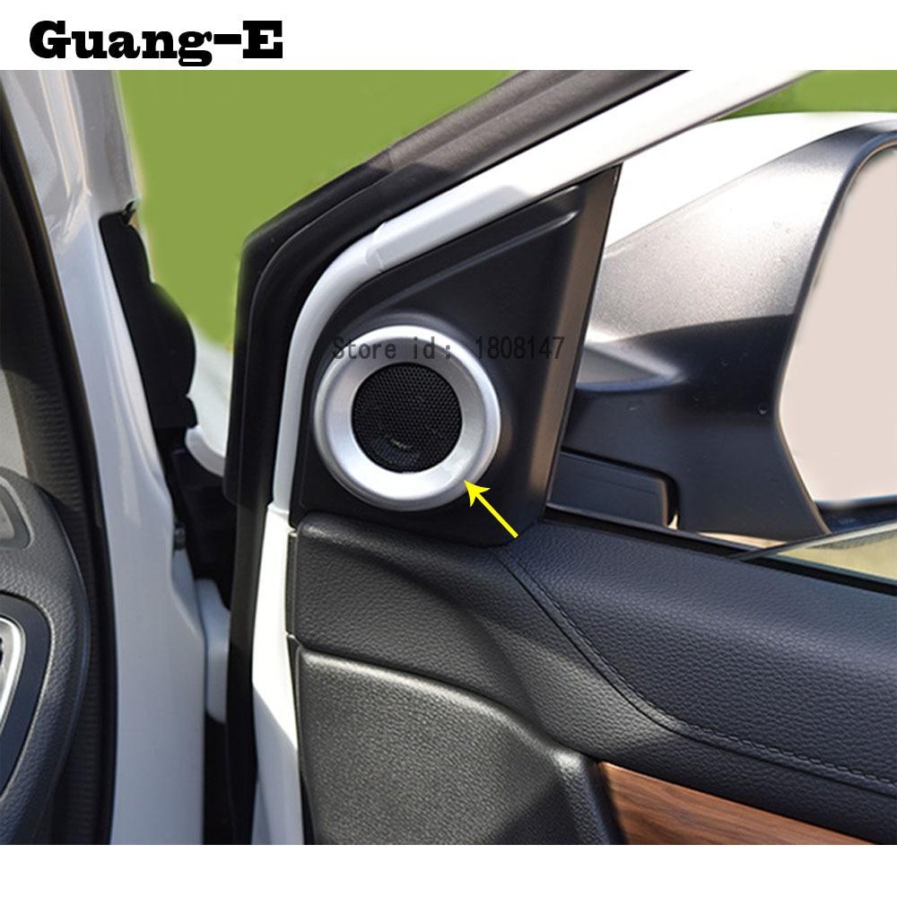 top quality  honda crv cr    car styling sticker  audio speak sound cover ring