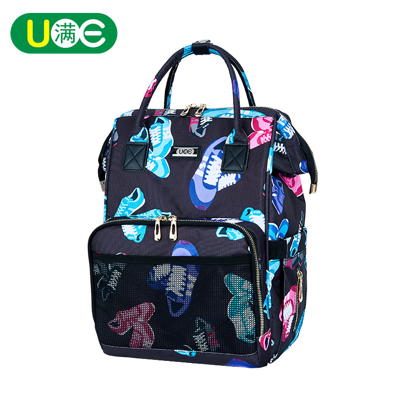 Waterproof Large Capacity Diaper Bag Designer Nappy Backpack Baby Nursing Bag Travel Backpack Ptinted Maternity Changing Bag idore baby diapers l 60pcs disposable nappies ultra thin large absorb capacity breathable 6dtex non woven fabric infant nappy