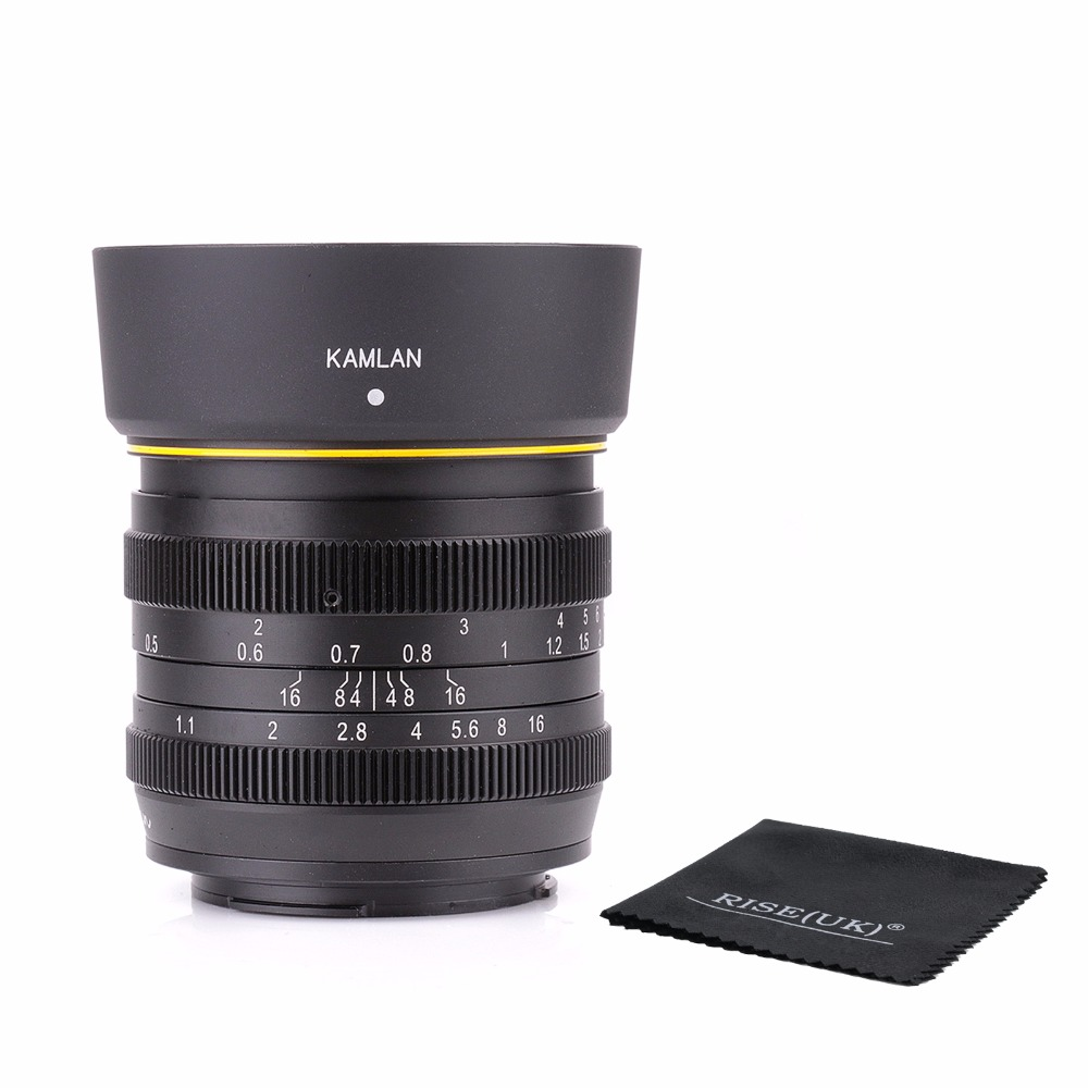 new style Kamlan 50mm F1.1 APS-C Large Aperture Manual Focus Lens for canon eos m free shipping siegal allan m nyt manual of style 5th ed