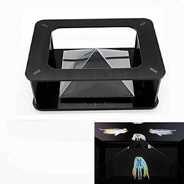 3D Голографической Проекции Пирамиды для iphone 5 6 S iphone6 Plus Samsung S5 S6 3.5 ~ 6 дюймов Смартфон Хацунэ 3D МВ Projectorfor