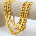Iced Out Gold Plated Miami Cuban Link Chain Fashion Hiphop Chain More Size Available Men's Golden Necklace New Arrival