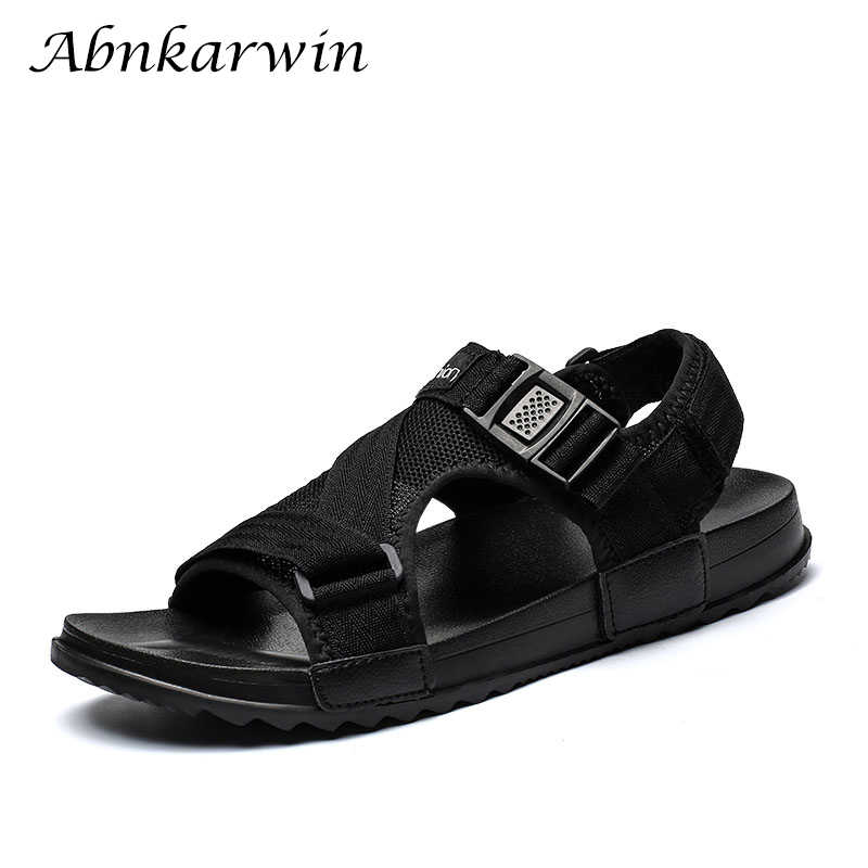 a23e3f1ecdcfc9 Hot Sandalias Hombre 2019 Summer Gladiator Casual Shoes Men Beach Sandals  Slippers Flat Men s Outdoor Shoes