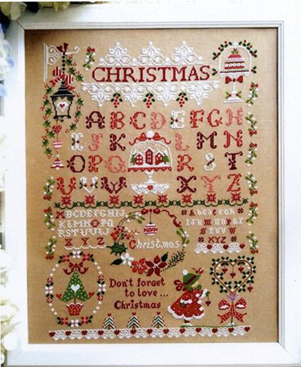 Christmas Girl Cross Stitch Kit X-mas Gift Cartoon Design 14ct 11ct Linen Flaxen Canvas Embroidery DIY Needlework