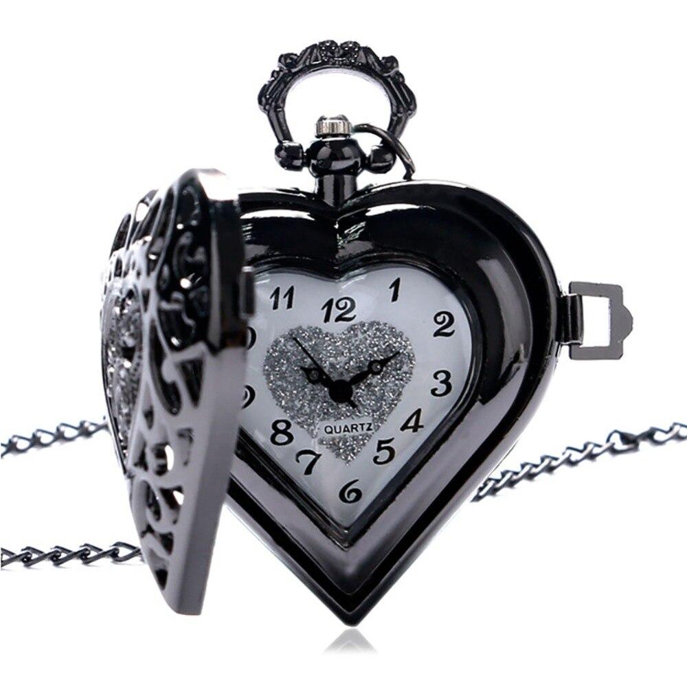 Bürünc Mis Steampunk Oyuq Kvars Ürək formalı Cib Saatı - Cib saatı - Fotoqrafiya 6