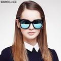 2016 Women Men Bluekiki Polarized Sunglasses Shining Mirror Matte Black UV400 Round Frame Hot-Sale Fashion Summer Outdoor Style