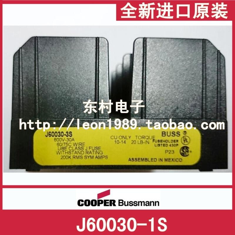 [SA]United States BUSSMANN fuse J60030-1S J60030-2S 30A 600V LPJ -series dock