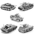 4d Etching Tiger typeMilitary T34 97 Tank ASSEMBLY Puzzel Plastic Metal Batmobile Signal Lamp Action Figure DIY Collection Model