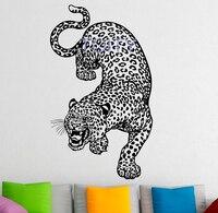 Decalque Da Parede Grande Wld leopardo Gato Animal Quarto Casa Decoração de Interiores Arte Mural Vinil Adesivo Predador H96cm x W57cm/37.9