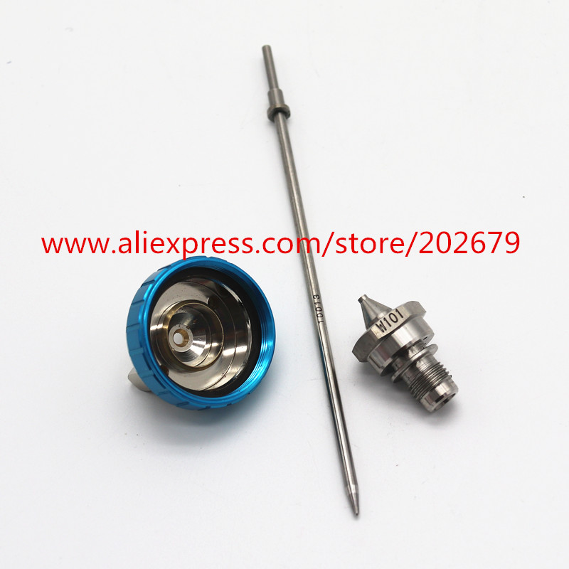 w101 spray gun nozzle W 101 air paint gun nozzle,1.0/1.3/1.5/1.8mm,Japan made, nozzle kit , 101 nozzle kit FREE SHIPPING-in Spray Guns from Tools on